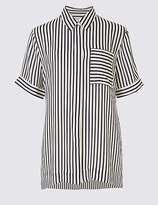 Marks and Spencer Striped Short Sleeve Shirt