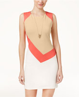 Crystal Doll Juniors' Colorblocked Bodycon Dress