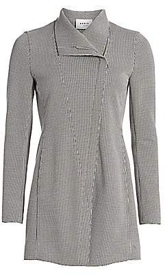 Akris Punto Women's Long Houndstooth Jacket
