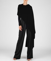 Atm Cashmere Blend Sweater Cape - Black