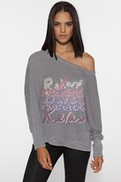 Chaser LA Relax Fleece Dolman in Stone