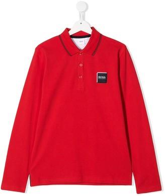 Boss Kids Logo Patch Polo Shirt