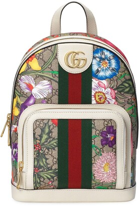Gucci Flora Print Monogram Backpack