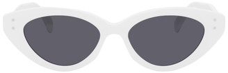 Alaia White Slim Cat Eye Sunglasses
