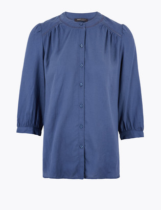 Marks and Spencer Tencel 3/4 Sleeve Blouse
