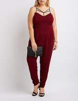 Charlotte Russe Plus Size Caged Yoke Jumpsuit