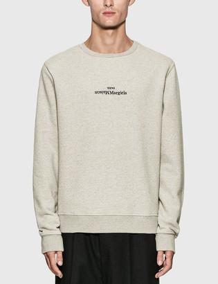 Maison Margiela Reversed Logo Embroidery Sweatshirt