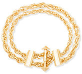 Steve Madden Goldtone Double Layer Twisted Rolo Chain Bracelet