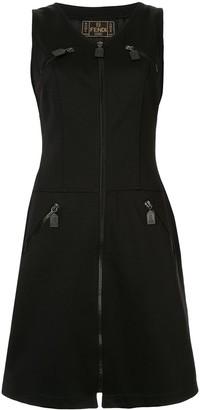 Fendi Pre-Owned Zip-Detail Drop-Waist Dress