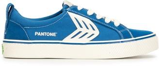 Cariuma x Pantone CATIBA Low Stripe Pantone Classic Blue Suede and Canvas Sneaker