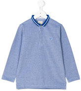 Armani Junior mandarin polo shirt - kids - Cotton - 4 yrs