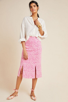 Anthropologie Mila Button-Front Pencil Skirt