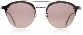 Alexander McQueen Sunglasses Round-Frame Metal Sunglasses