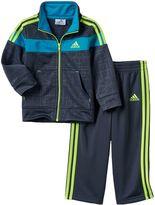 adidas Baby Boy Geometric Colorblock Jacket & Pants Set