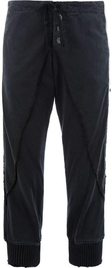 Greg Lauren side stripe cropped trousers