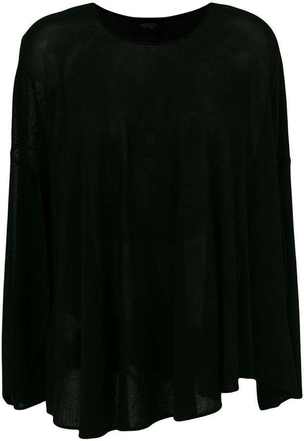 Giambattista Valli asymmetric gathered blouse