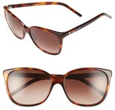 Marc Jacobs Women's 57Mm Oversized Sunglasses - Havana
