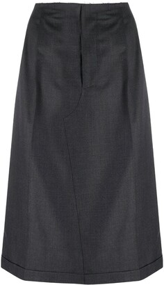 Maison Margiela High-Waisted Midi Skirt