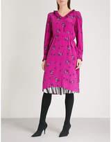 Balenciaga Hybrid silk-crepe de chine dress