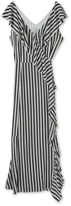 Jigsaw Sailor Stripe Ruffle Dress
