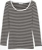 Frame Striped stretch cotton-blend top