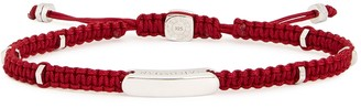 Tateossian Small red macrame and silver beaded bracelet