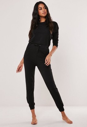 Missguided Black Casual Loungewear Romper