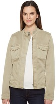Liverpool Anorak Shirt Jacket in Stretch Peached Twill Women's Coat