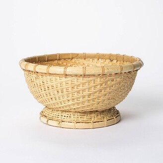 """5"""" x 10"""" Round Bamboo Woven Bowl Natural - ThresholdTM designed with Studio McGee"""