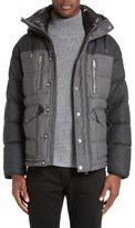 Burberry Men's Leyton Two-Tone Wool Quilted Down Jacket