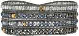 Chan Luu 32' Swarovski Blue Mix Crystal Wrap Bracelet