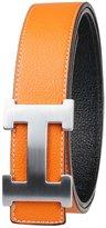 Moraner Golden fame New Designer H Buckle Belt, High Quality Luxury Men's Leather Waist Belts 34in