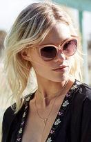 La Hearts Nude Cat-Eye Sunglasses