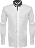 Just Cavalli Printed Collar Shirt White