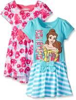 Disney Little Girls' 2 Pack Belle Dresses