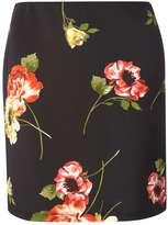 Dorothy Perkins Black Floral Mini Skirt