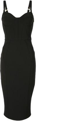 Elisabetta Franchi Bustier Neckline Midi Dress