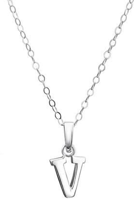 Jo for Girls Sterling Silver Initial V Pendant