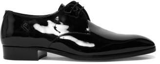 Saint Laurent Patent Leather Derby Shoes - Womens - Black