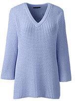 Classic Women's Petite Lofty 3/4 Sleeve V-neck Sweater-Cherry Jam