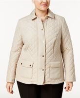 Charter Club Plus Size Quilted Coat, Only at Macy's