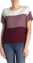 Blvd Colorblock Stripe Knit T-Shirt