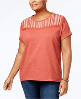 Style&Co. Style & Co Plus Size Embroidered T-Shirt, Created for Macy's