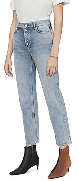 Anine Bing Etta Jeans in Washed Light Blue