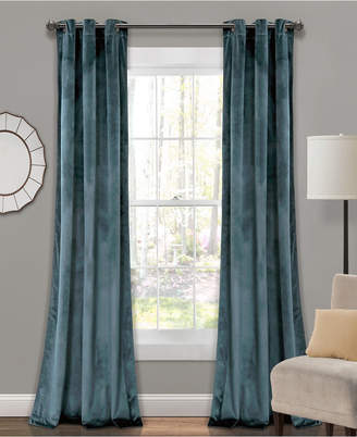 "Lush Decor Prima Velvet 108"" x 38"" Curtain Set"