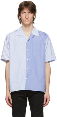 Norse Projects Blue Poplin Mixed Stripe Carsten Shirt