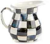 Mackenzie Childs Courtly Check Creamer/Small Pitcher