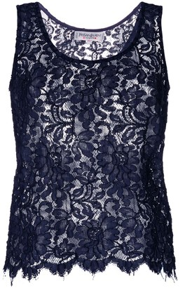 Yves Saint Laurent Pre Owned Lace Tank Top