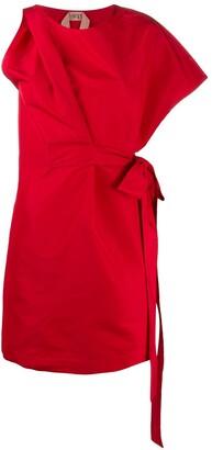No.21 Asymmetric Mini Dress