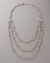 Three-Strand Floral Necklace